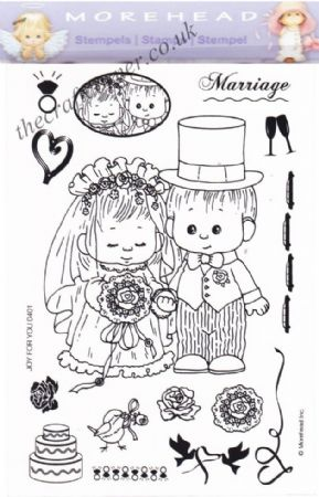 Joy For You Wedding 15 Clear Rubber Stamp Set From Morehead